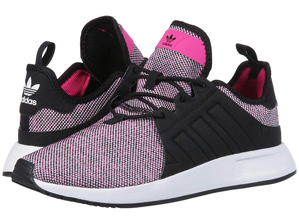 5316d7f5fe55b adidas Originals Kids X PLR J (Big Kid) Girls Shoes Shock Pink/Black/White
