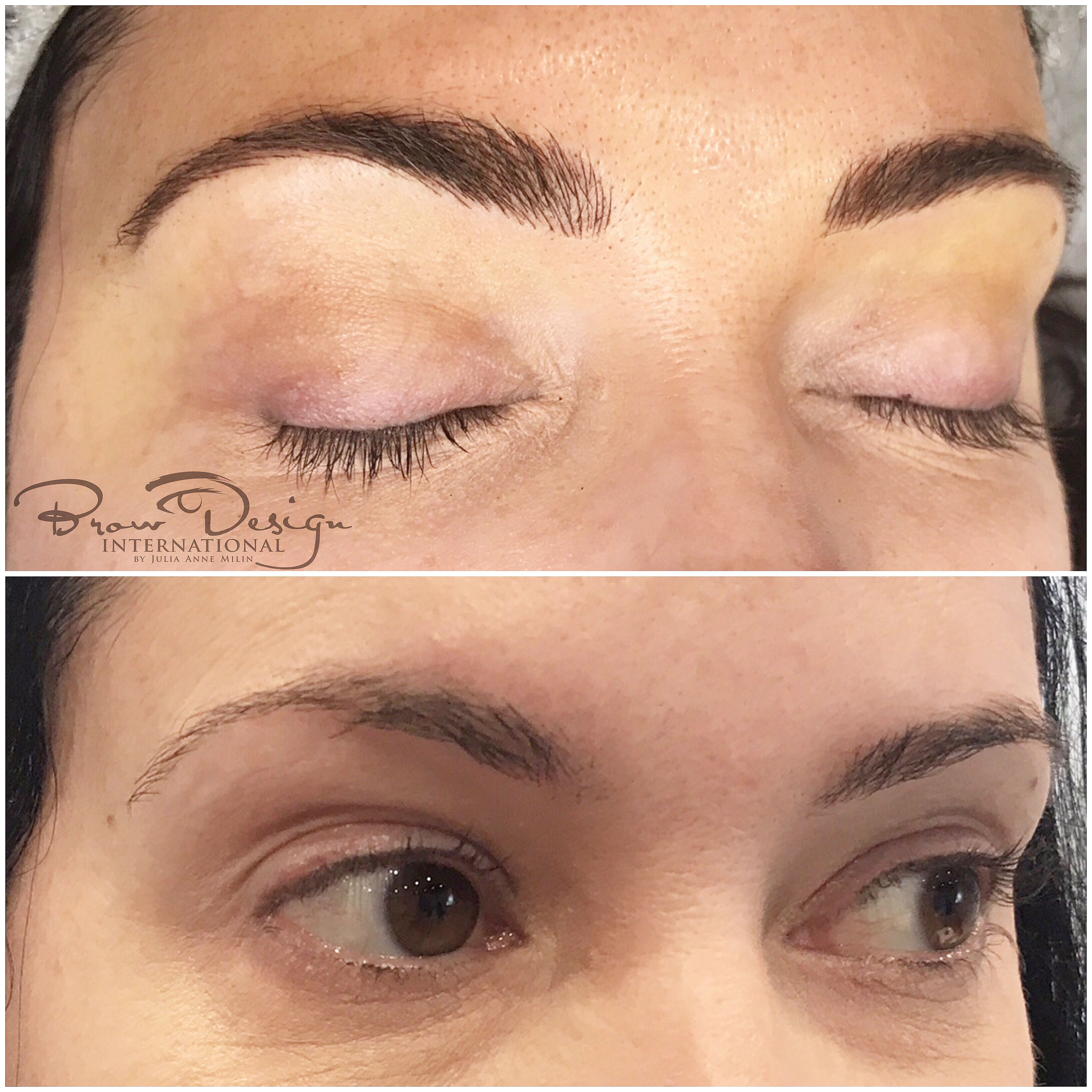 What Microblading looks like before and after Permanent
