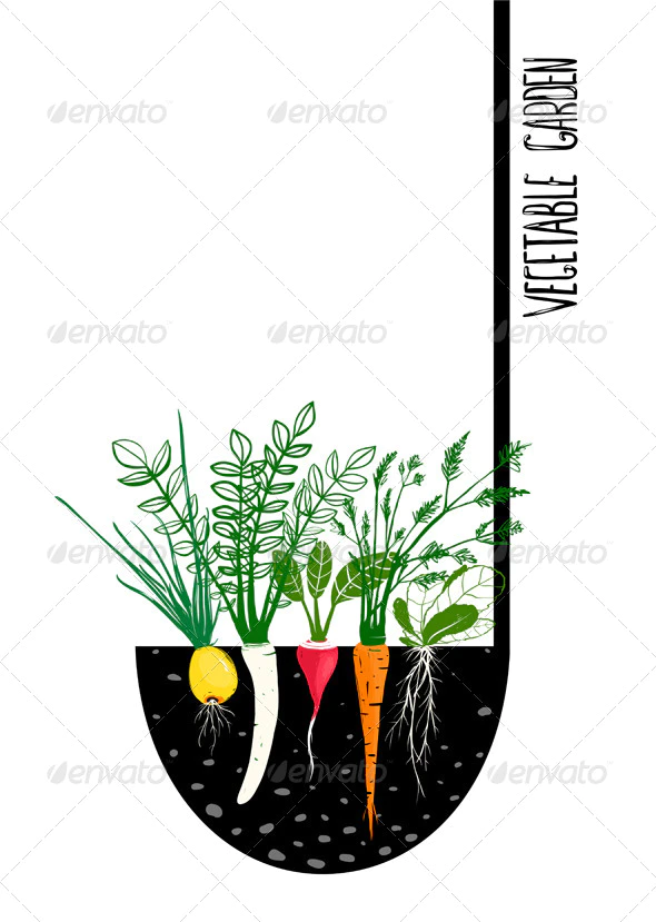 Grow Vegetable Garden And Cook Soup Growing Vegetables Vegetable Garden Garden Illustration