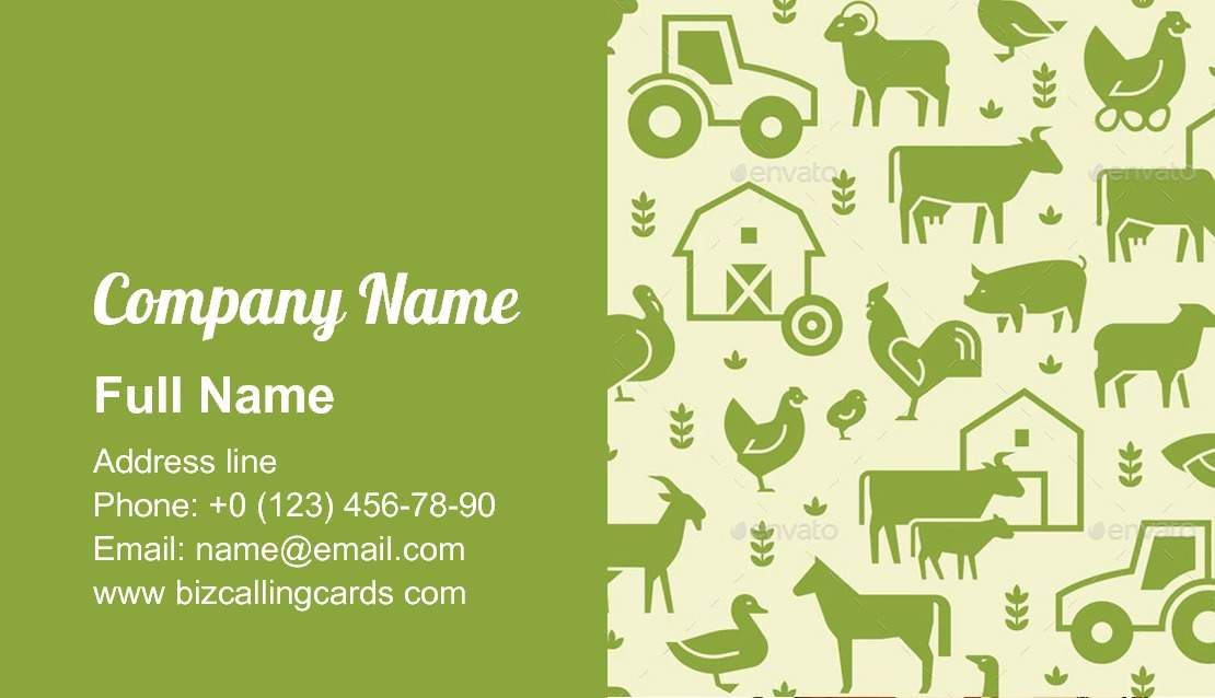 Pattern Of Farm Animals Business Card Template Business Card Pattern Business Card Template Card Template