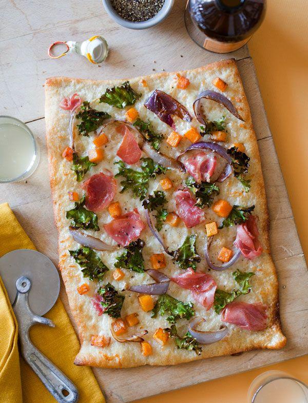 Prosciutto and butternut squash pizza. #pizza #ModCloth #styleserving