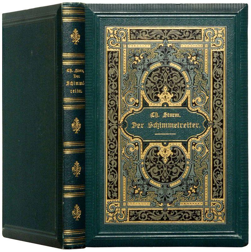 Storm, Theodor: Der Schimmelreiter. Novelle. Berlin: Paetel 1888, Verlagseinband des Erstdrucks.