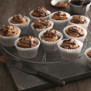 Chocolate and Salted Caramel Cupcakes, a delicious recipe from the new Cook with M&S app.