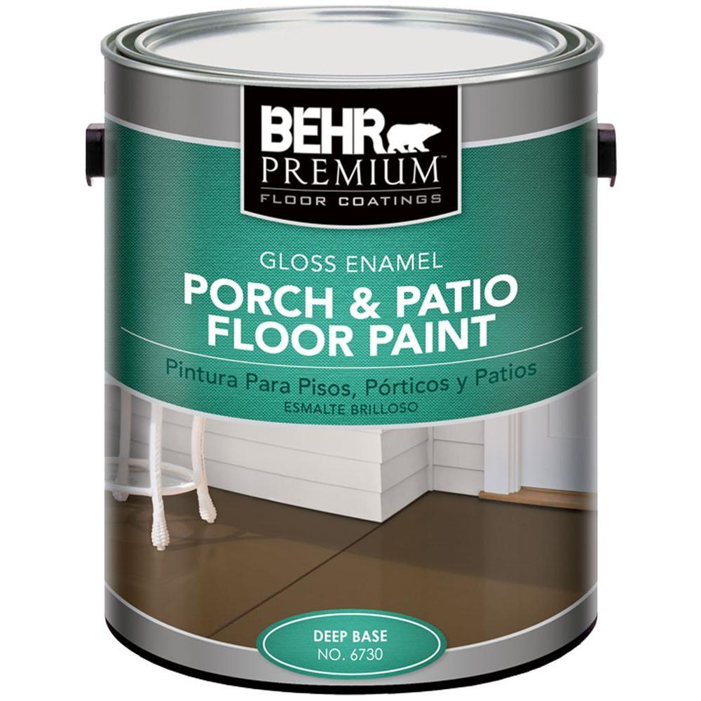 Behr Premium 1 Gal Deep Base Gloss Enamel Exterior Porch And Patio Floor Paint Patio Flooring Concrete Floor Coatings Painted Floors