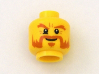 b3d8ea7d6 BrickLink - Part 3626cpb0652 : Lego Minifig, Head Beard Dark Orange, Bushy  Eyebrows, Goatee, White Pupils Pattern - Stud Recessed [Minifig, ...