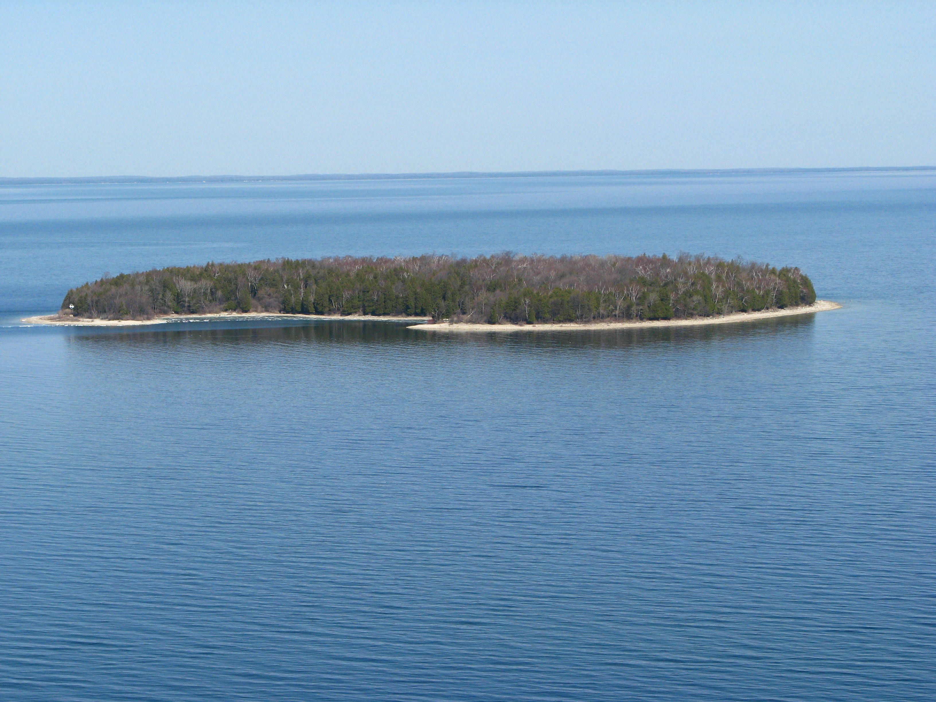 Horseshoe Island, from atop Eagle Tower.  Door County Wi