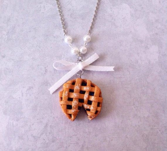 #Pie #Necklace polymerclay #by #FlowerChildCharms on Etsy  Made in The USA