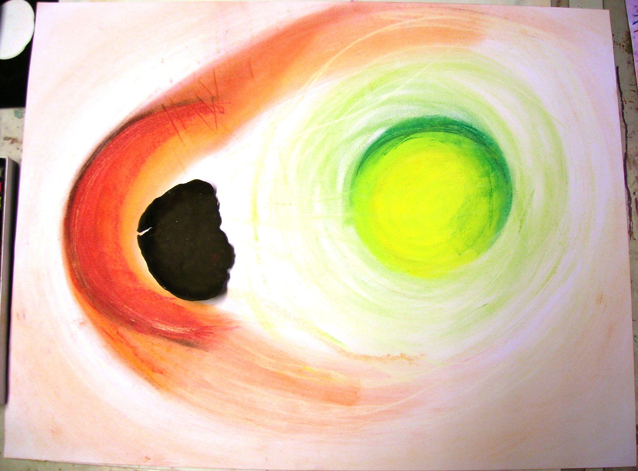 klei en pastelkrijt intuitief samenwerken 4