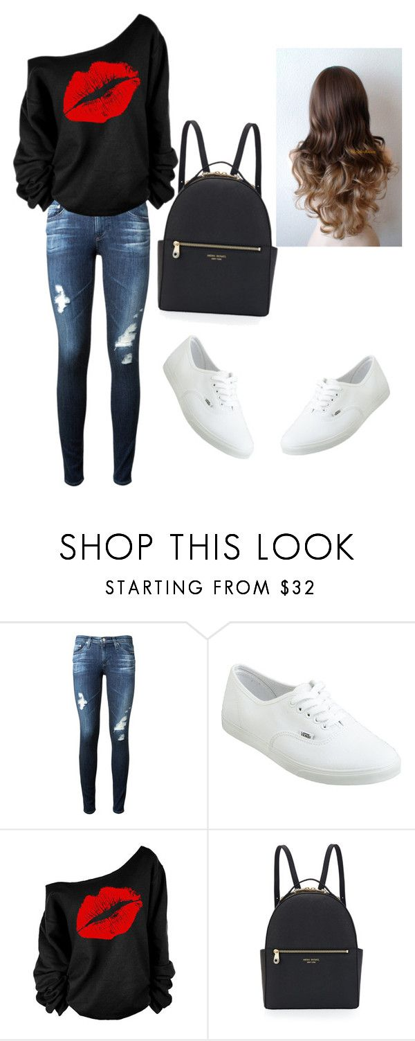 """Perfet for the School"" by emmagomes ❤ liked on Polyvore featuring beauty, AG Adriano Goldschmied, Vans and Henri Bendel"