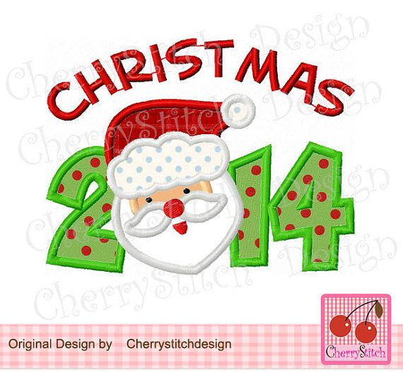 Christmas 2014 Digital Embroidery Applique by CherryStitchDesign