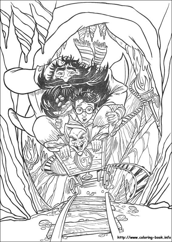 Harry Potter And The Sorcerers Stone 1997 Coloring Page