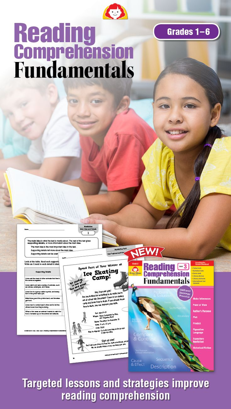 Target difficult reading strategies with these reading comprehension activities. The 36 skill-based units include fiction and nonfiction texts and provide students with the tools to develop a deep understanding of each comprehension strategy. Available for grades 1-6.