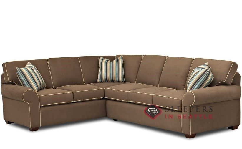 Savvy Seattle True Sectional Sleeper Sofa Full At Sleepers In