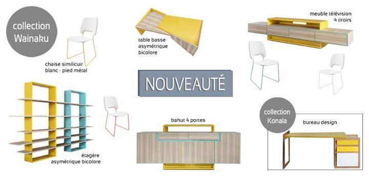 Table basse Wainaku asymétrique bicolore Mobilier Moss
