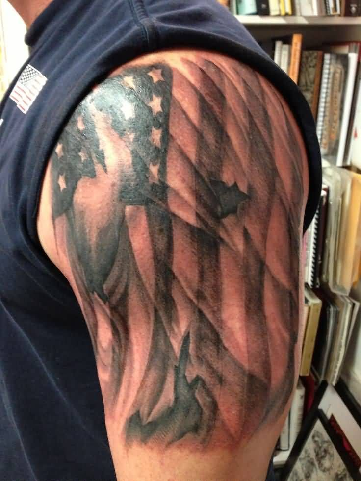 left half sleeve torn american flag tattoo for men addicted to tats pinterest tattoo. Black Bedroom Furniture Sets. Home Design Ideas