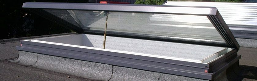 Hinged Rooflights Glazing Vision Roof Light Flat Roof Vents Natural Ventilation