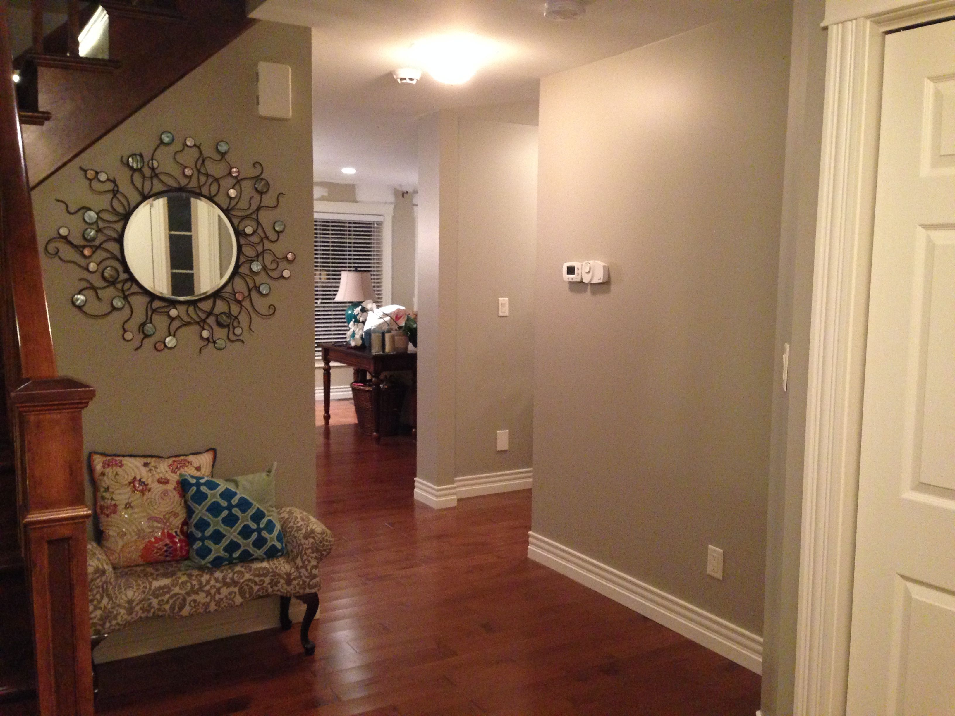 Entry way with benjamin moore pashmina bad lighting - What you need to paint a room ...