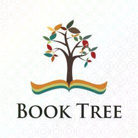 Book Tree logo #logo #book #tree
