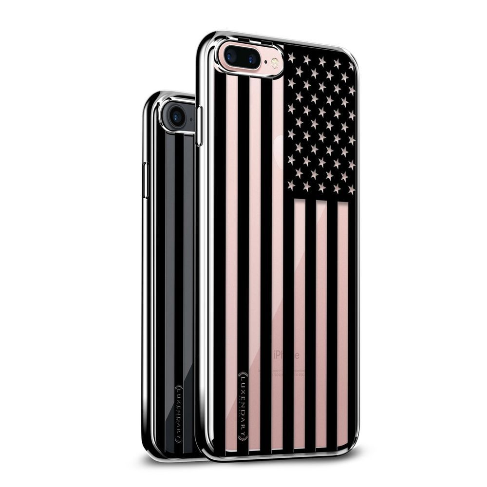 B&W USA FLAG 3D PRINTED DESIGN WITH CLEAR CHROME/SILVER #CASE FOR IPHONE 7 PLUS on @eBay https://t.co/IEdd6c4HWF https://t.co/OUP6jI0Z3H