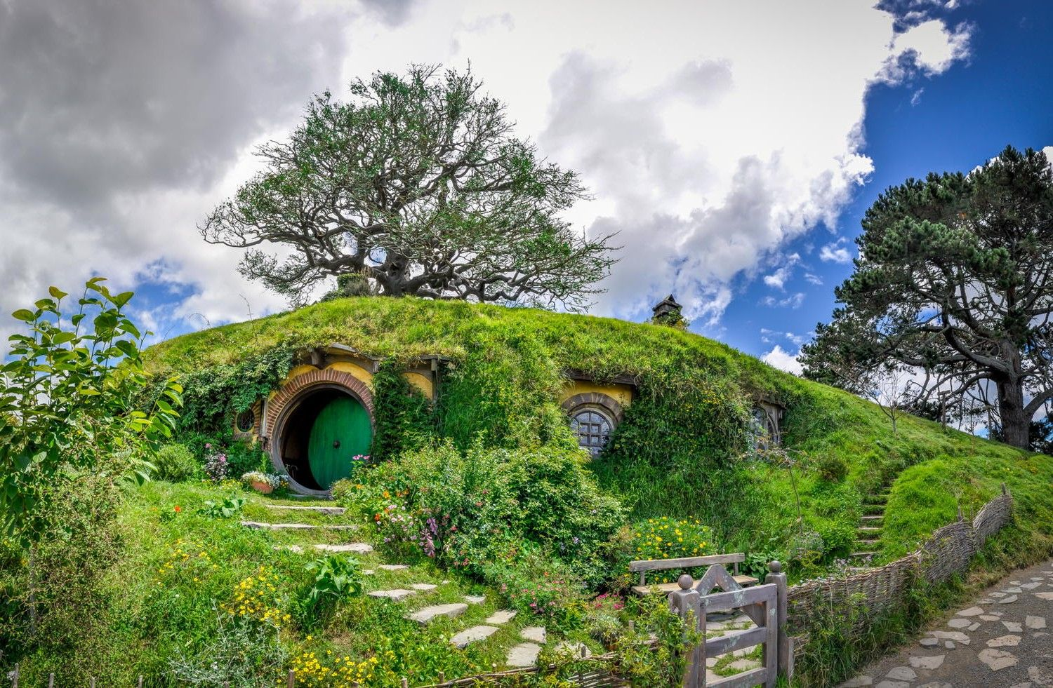 25 Fictional Places You Can Actually Visit In Real LifeLord of the Rings trilogy and The Hobbit 1. Bilbo Baggins' home in Hobbiton can be found in Matamata, New Zealand.