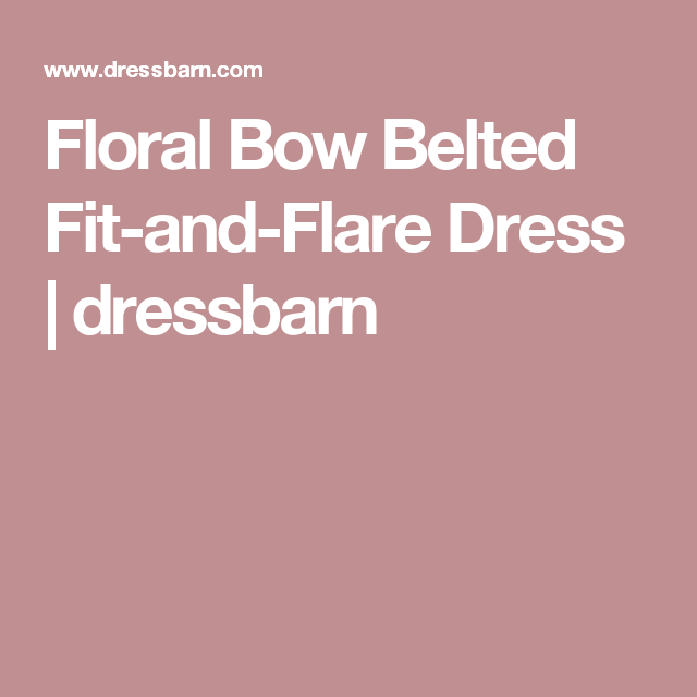 Floral Bow Belted Fit-and-Flare Dress | dressbarn
