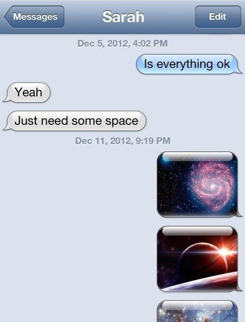 Space Funny Texts Funny Text Messages Funny