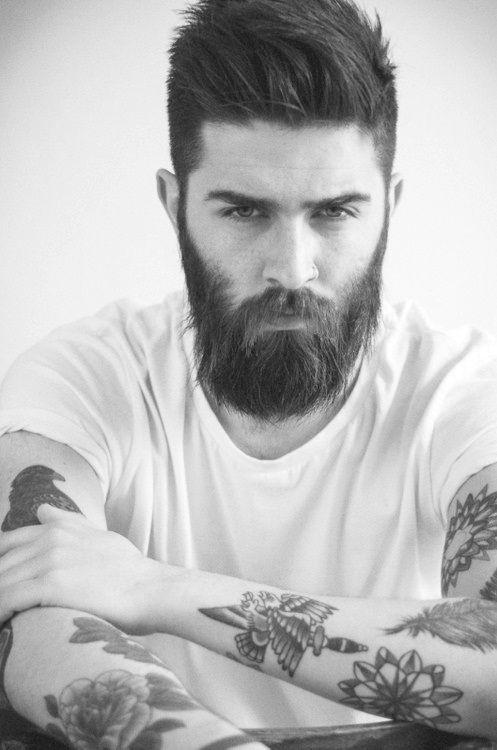 Souvent INSPIRATION. Une bonne barbe d'homme viril et de beau tattoo = un  RK45