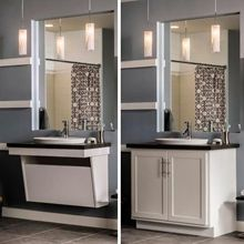 Aristokraft S New Adaptable Wall Vanity Sink Base Is Ideal For Bathrooms That May Need To Convert F Handicap Bathroom Design Bathroom Design Handicap Bathroom