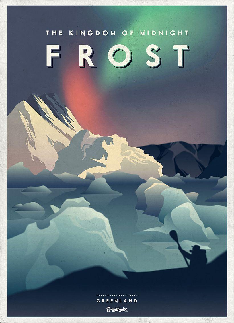 Frost - Greenland | #poster #design #retro