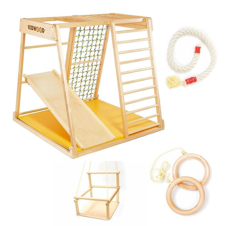 "Kidwood KinderKlettergerüst ""Segel JUNIOR Set"" aus Holz"