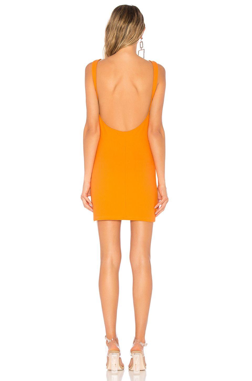 e2d16396ad9e by the way. Kourtney Backless Mini Dress in Orange