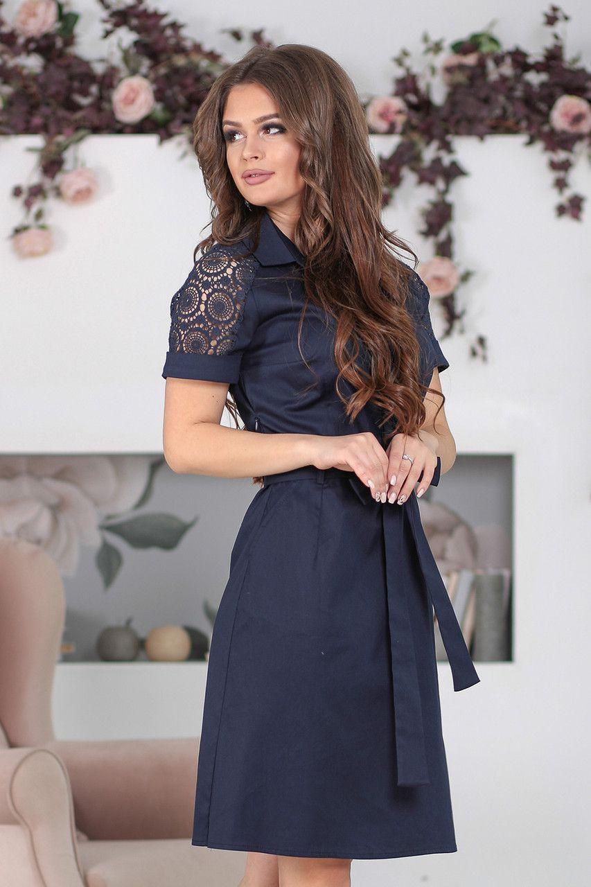 666dfe2f3f0a Платье с воротником Алика темно-синее: продажа, цена в Одессе. платья  женские