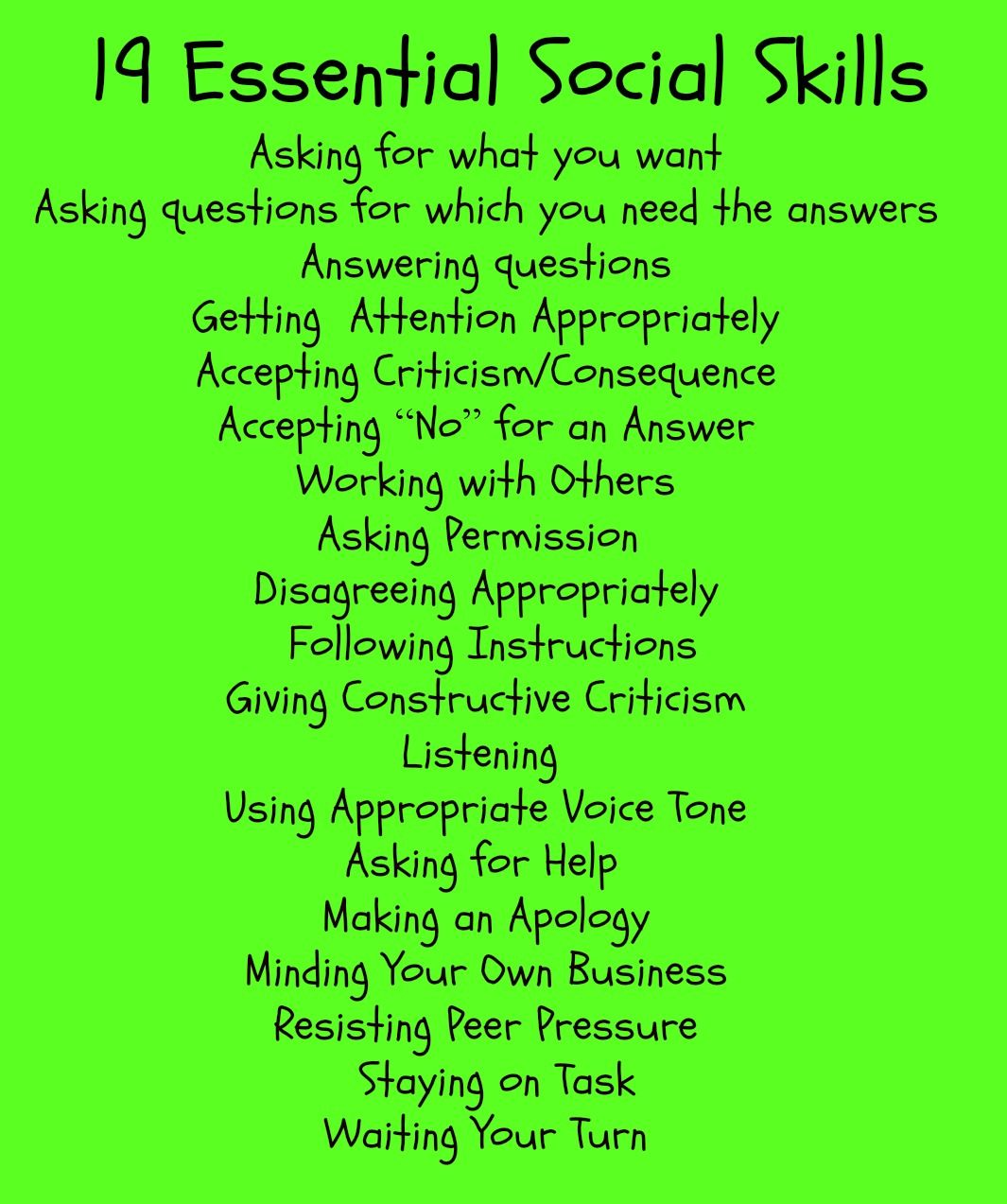 19 Essential Social Skills Counseling