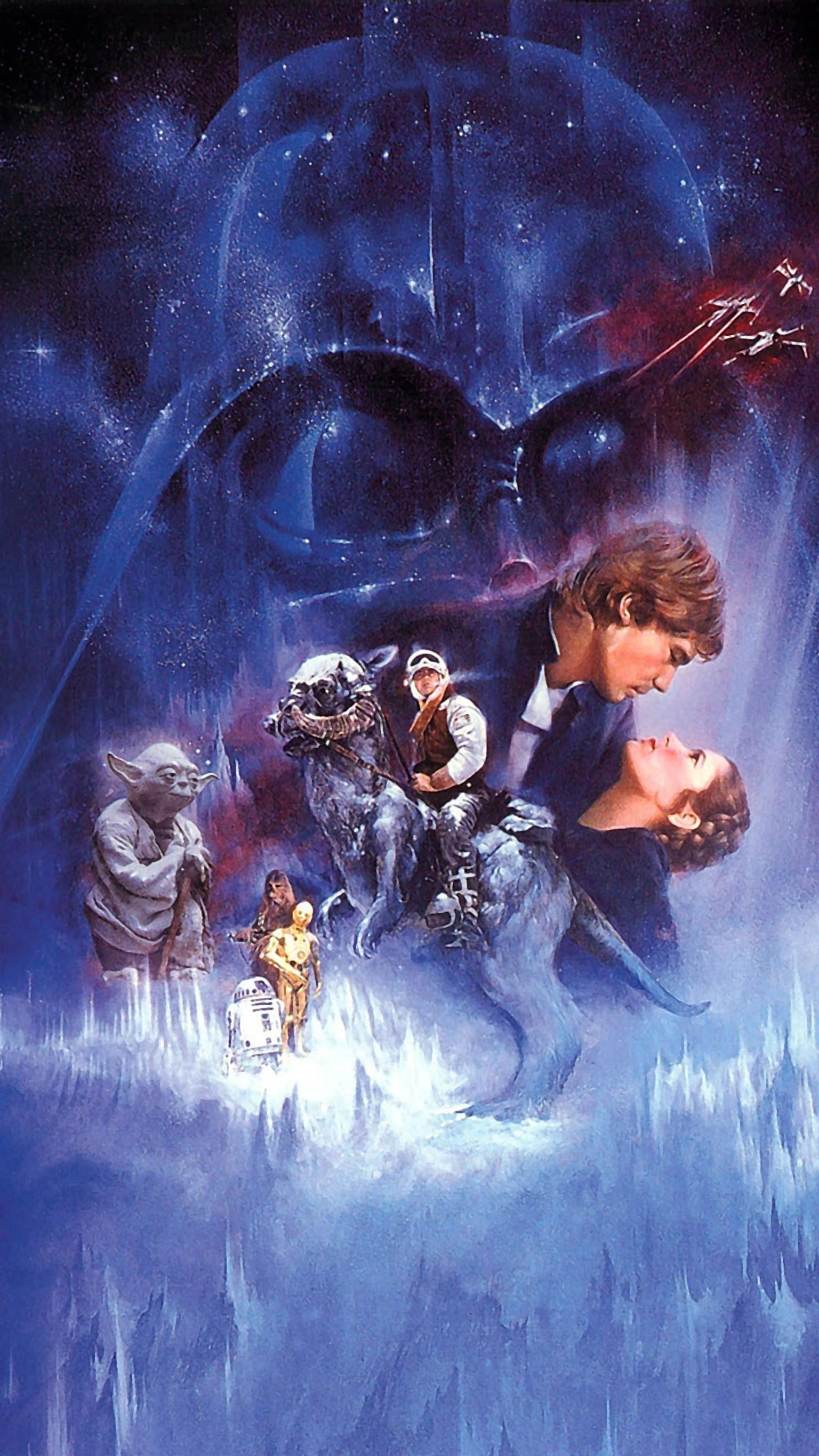 The Empire Strikes Back 1980 Phone Wallpaper Moviemania In 2020 Star Wars Poster Star Wars Art Star Wars Poster Art