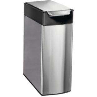 Simplehuman 40l Slim Touch Bar Bin Brushed Stainless Steel At Argos Co