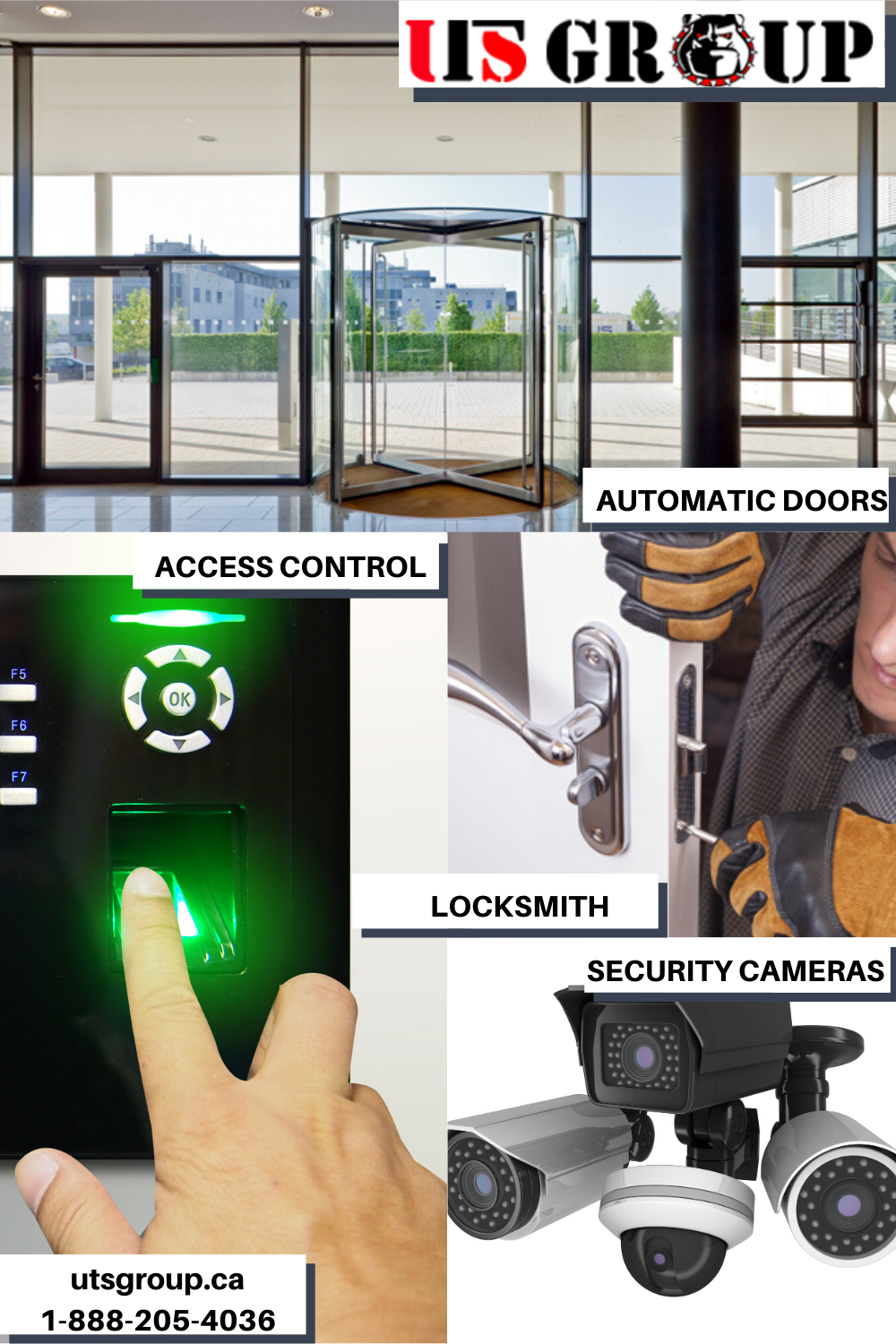 Hi We Are Uts Group The 1 Access Control Automatic Doors Locksmith Security Cameras Company In 2020 Access Control Access Control System Camera Supplies