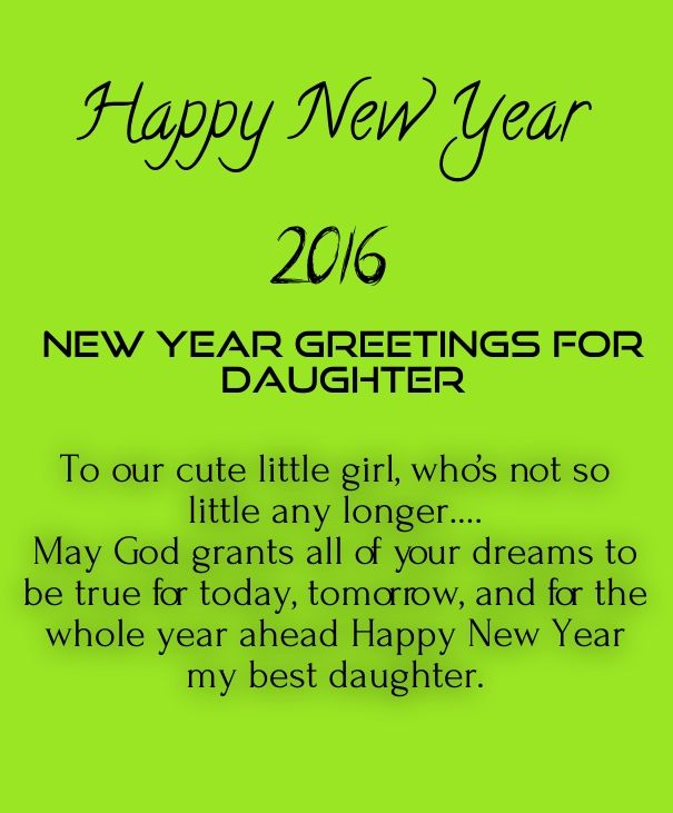 happy new year daughter 2016