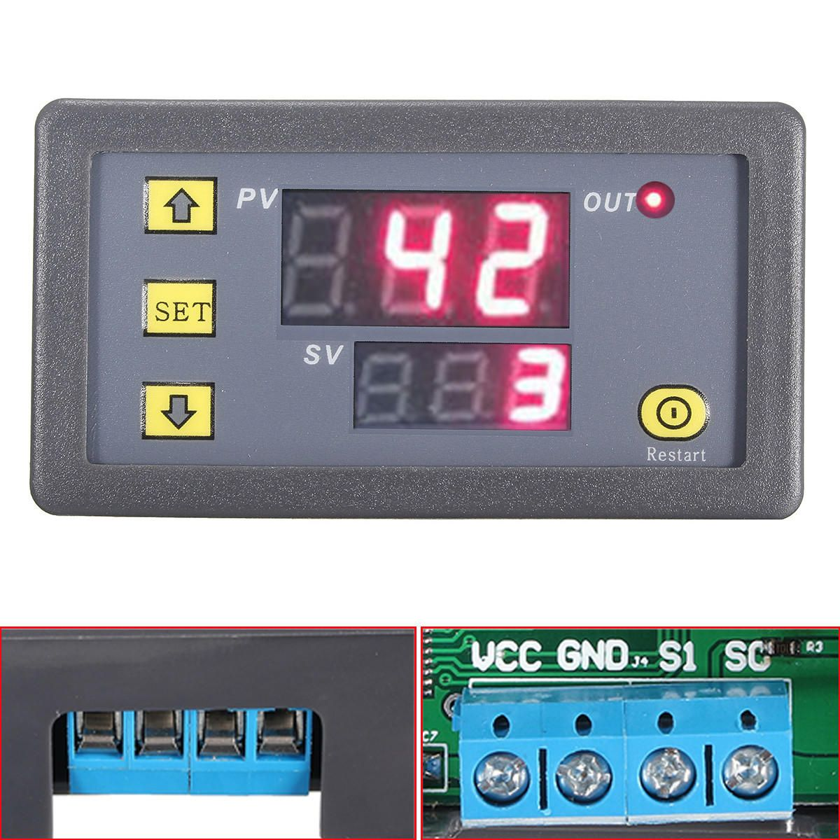 12v Digital Relay Module Led Dual Display Cycle Timing Delay Board 3pcs Dc Timer Turn On Off