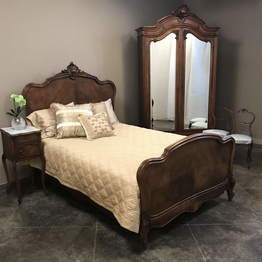 19th Century French Walnut Louis Xv Queen Bedroom Set Inessa S Antiques Antique Furniture