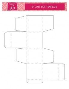 Printable Cube Box Template Paper Box Template