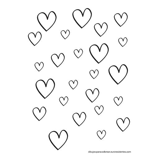 Pintar corazones | Corazones para pintar, Plantilla de corazón y ...
