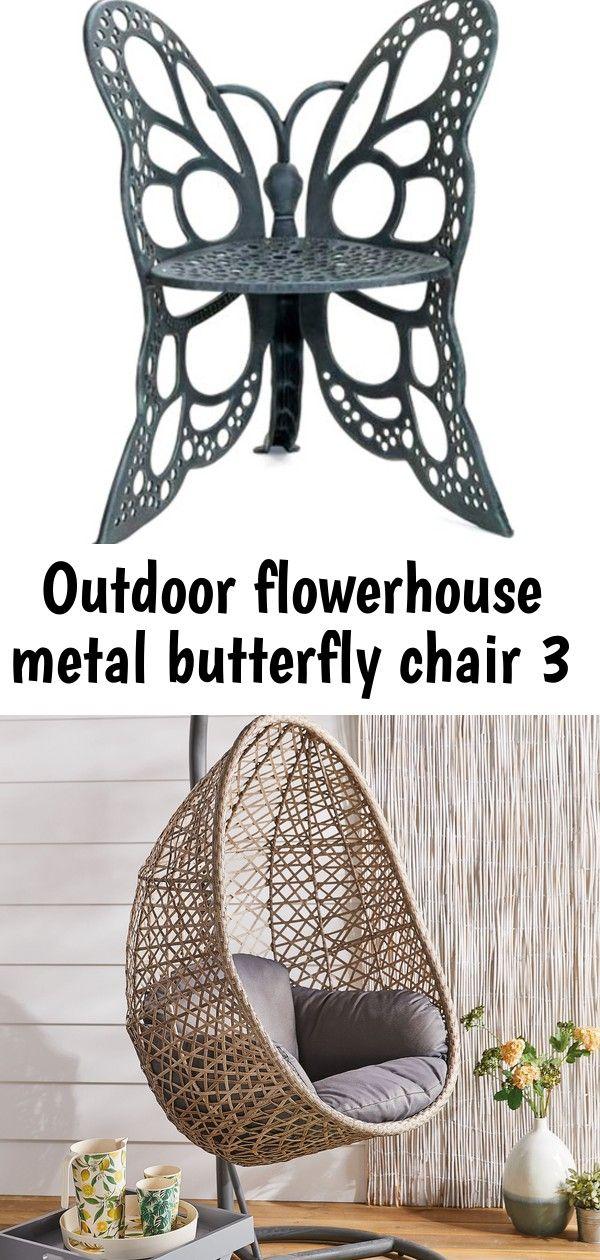 Outdoor Flowerhouse Metal Butterfly Chair Aldi's hanging