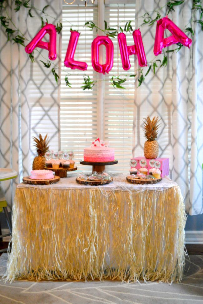 Children S Luau First Birthday Party Hawaii Theme Party Luau