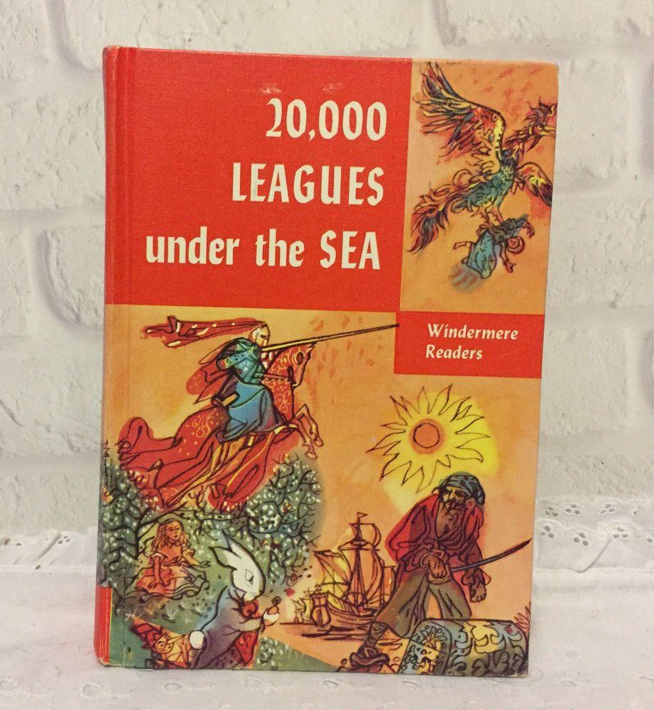 20 000 Leagues Under The Sea Printed 1956 Ebay Leagues Under The Sea Vintage Children S Books Vintage Books