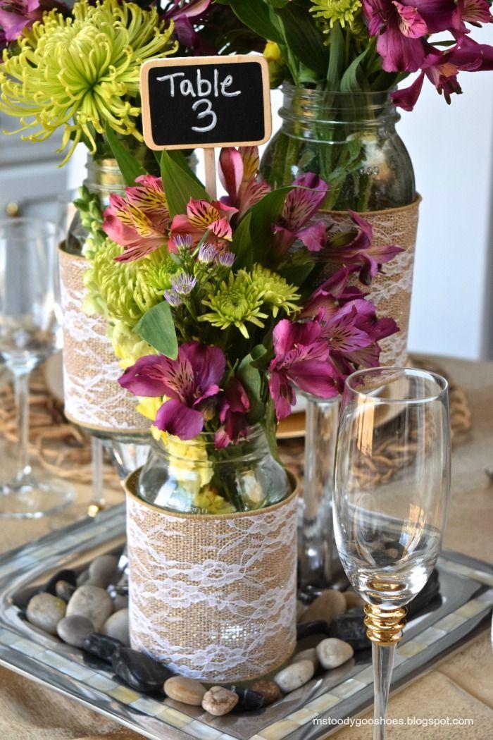 Diy Wedding Centerpieces Mason Jars Lovely Diy Wedding Project Mason ...