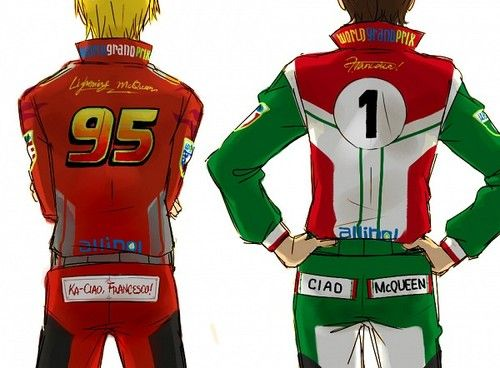 Mcqueen And Francesco Cars Humanized Disney