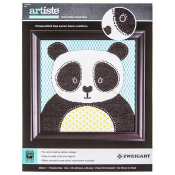 Nature Baby Panda Bear Counted Cross Stitch Kit | Hobby Lobby | 1576784