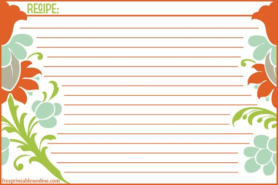 17 images about Templates – Recipe Card Template Word