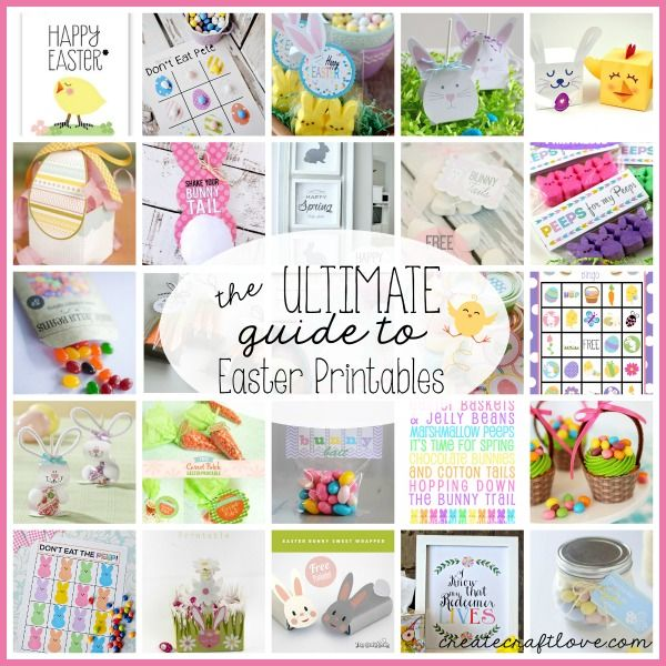 The ULTIMATE Guide to Easter Printables just in time for spring!