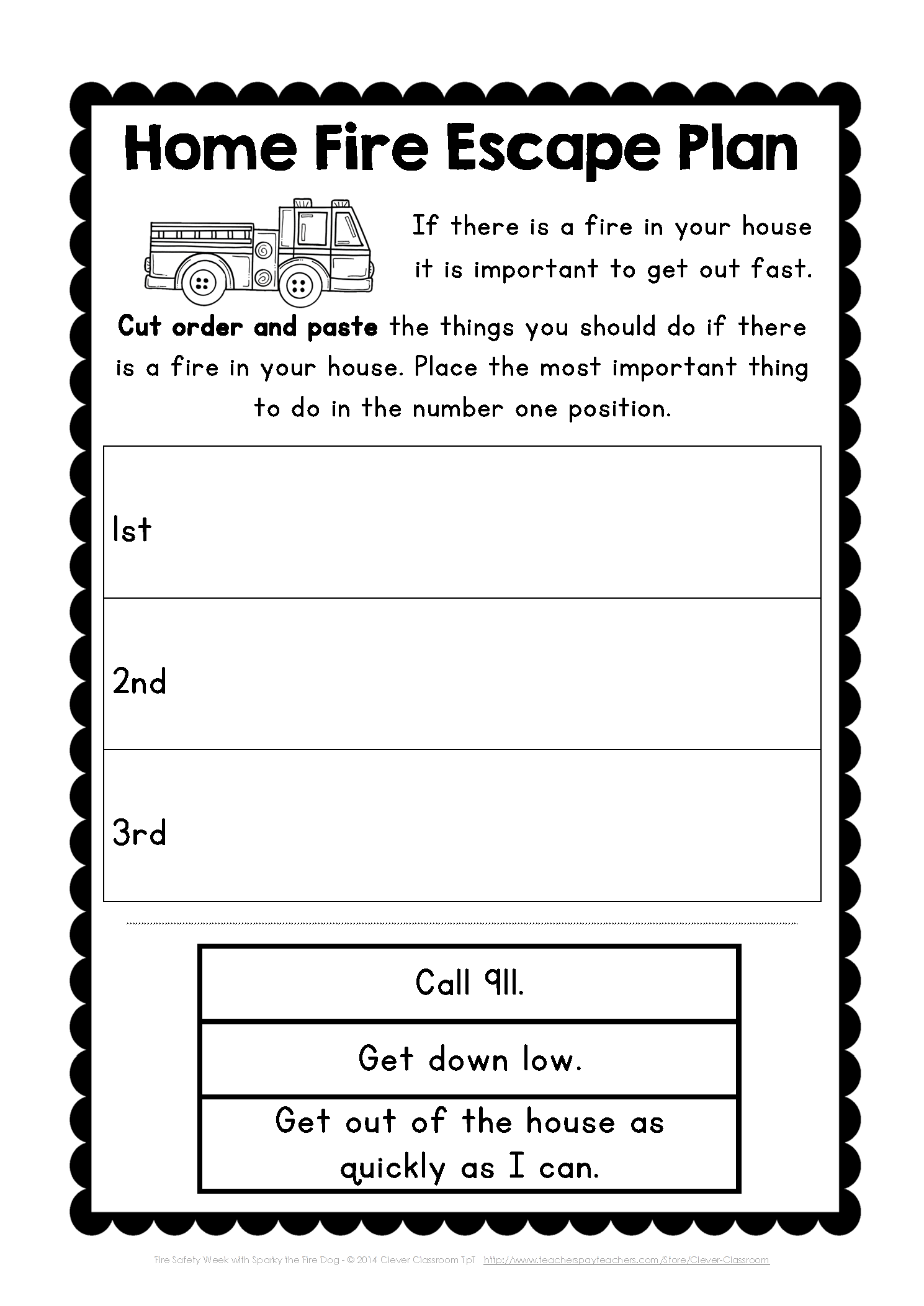 Fire Safety Week Fire Safety Week Clever Classroom Fire Safety Preschool [ 2105 x 1489 Pixel ]